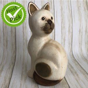 Thai Wooden Cat